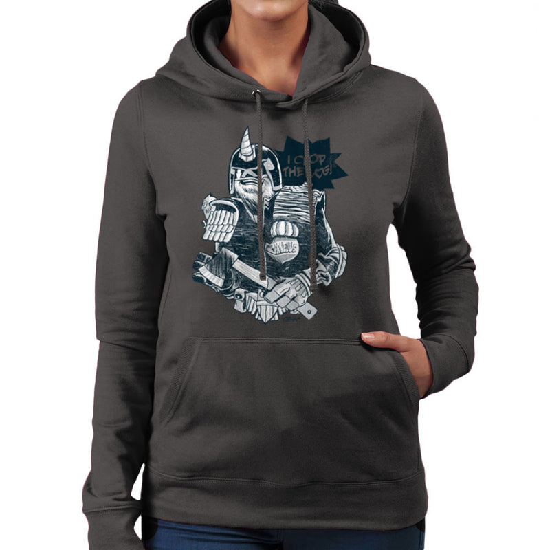 Judge Dread Cornelius I Chop The Log Women's Hooded Sweatshirt by Gimetzco - Cloud City 7