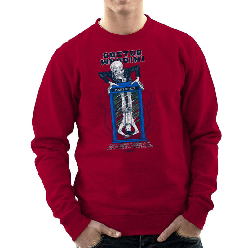 Doctor Whodini Houdini Dr Who Men's Sweatshirt by Gimetzco - Cloud City 7