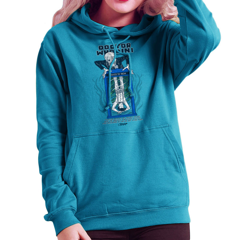 Doctor Whodini Houdini Dr Who Women's Hooded Sweatshirt by Gimetzco - Cloud City 7