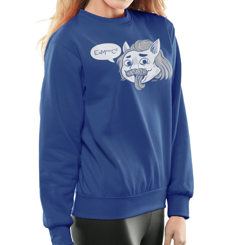 Felinestein Albert Einstein Cat Women's Sweatshirt by Gimetzco - Cloud City 7