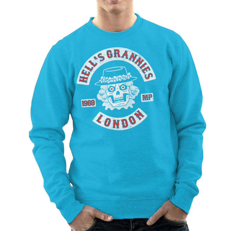 Hells Grannies Monty Python Logo Men's Sweatshirt by Gimetzco - Cloud City 7