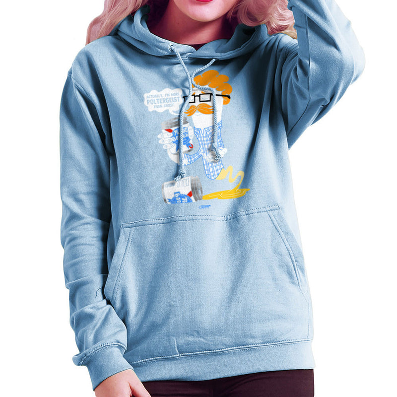 Hipster Ghost Women's Hooded Sweatshirt by Gimetzco - Cloud City 7