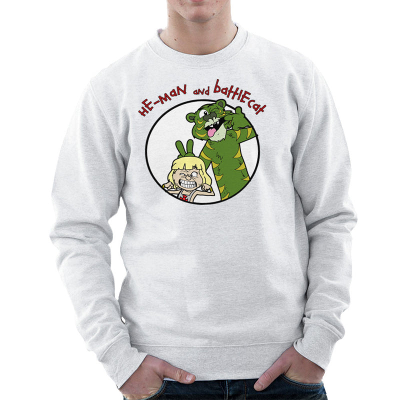 He Man and Battle Cat Calvin and Hobbes Men's Sweatshirt by TopNotchy - Cloud City 7