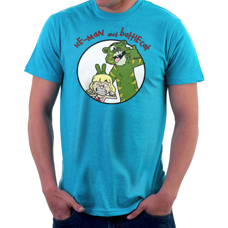 He Man and Battle Cat Calvin and Hobbes Men's T-Shirt by TopNotchy - Cloud City 7