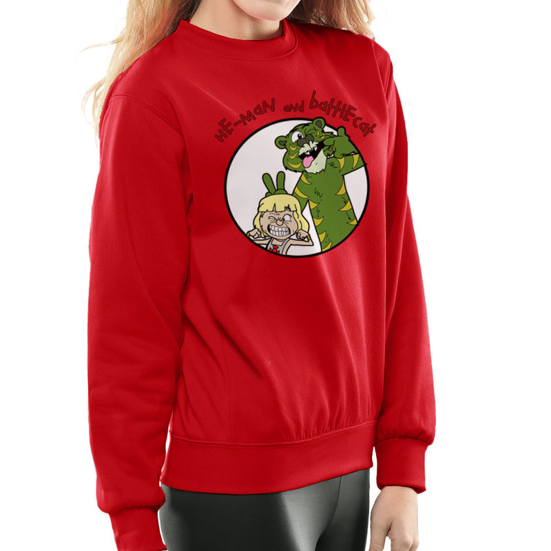 He Man and Battle Cat Calvin and Hobbes Women's Sweatshirt by TopNotchy - Cloud City 7