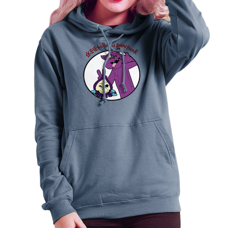 Skeletor and Panthor Calvin and Hobbes Women's Hooded Sweatshirt by TopNotchy - Cloud City 7