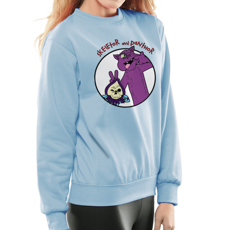 Skeletor and Panthor Calvin and Hobbes Women's Sweatshirt by TopNotchy - Cloud City 7