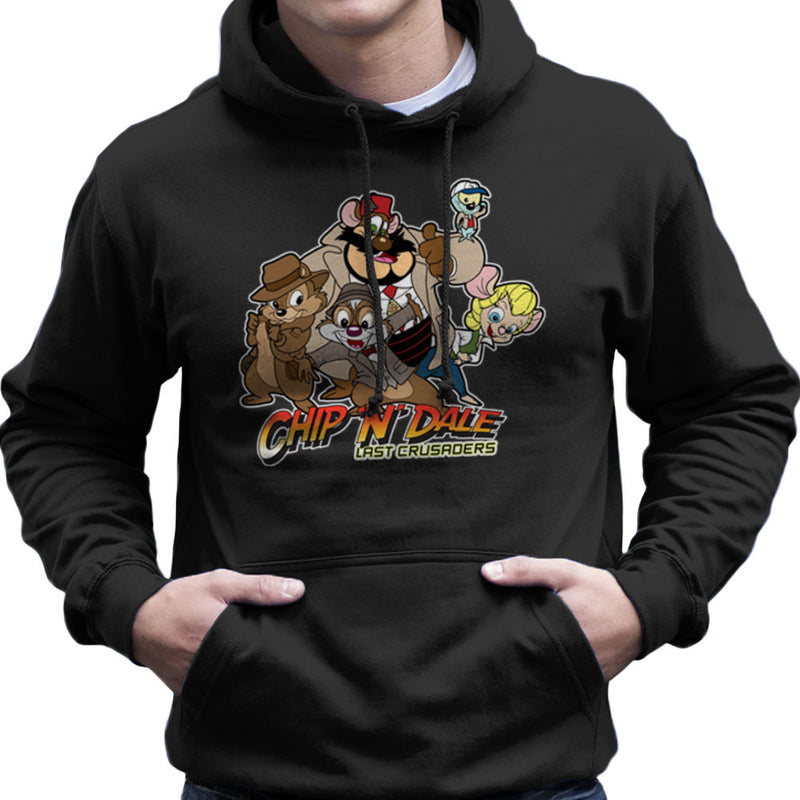 Chip N Dale Last Crusaders Indiana Jones Rescue Rangers Men's Hooded Sweatshirt by TopNotchy - Cloud City 7
