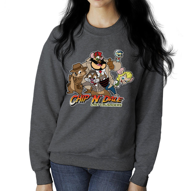 Chip N Dale Last Crusaders Indiana Jones Rescue Rangers Women's Sweatshirt by TopNotchy - Cloud City 7