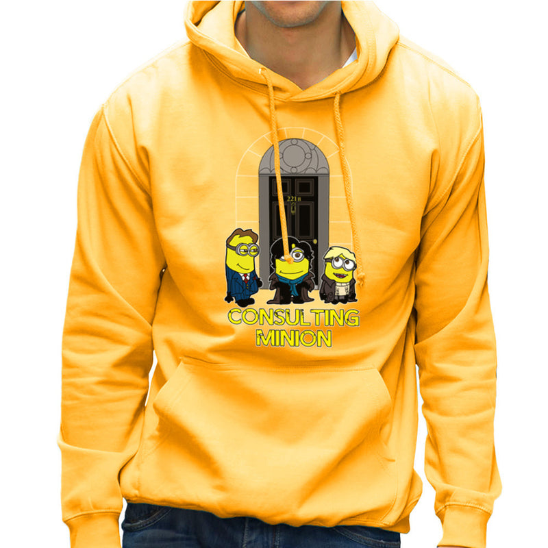 Consulting Minion Sherlock Holmes John Watson Mycroft Men's Hooded Sweatshirt by TopNotchy - Cloud City 7