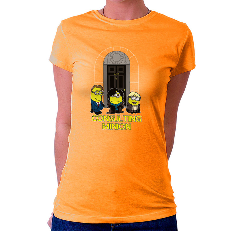 Consulting Minion Sherlock Holmes John Watson Mycroft Women's T-Shirt by TopNotchy - Cloud City 7