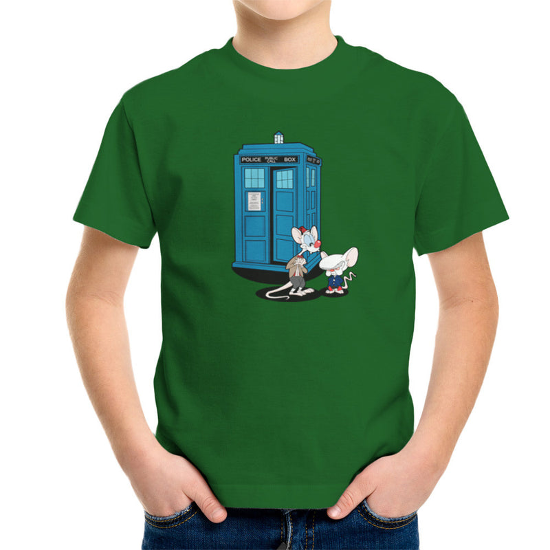 Doctor Who Pinky and the Brain Tardis Matt Smith Peter Capaldi Kid's T-Shirt by TopNotchy - Cloud City 7