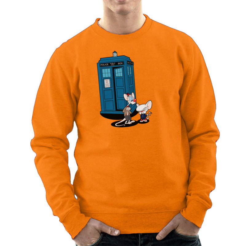 Doctor Who Pinky and the Brain Tardis Matt Smith Peter Capaldi Men's Sweatshirt by TopNotchy - Cloud City 7