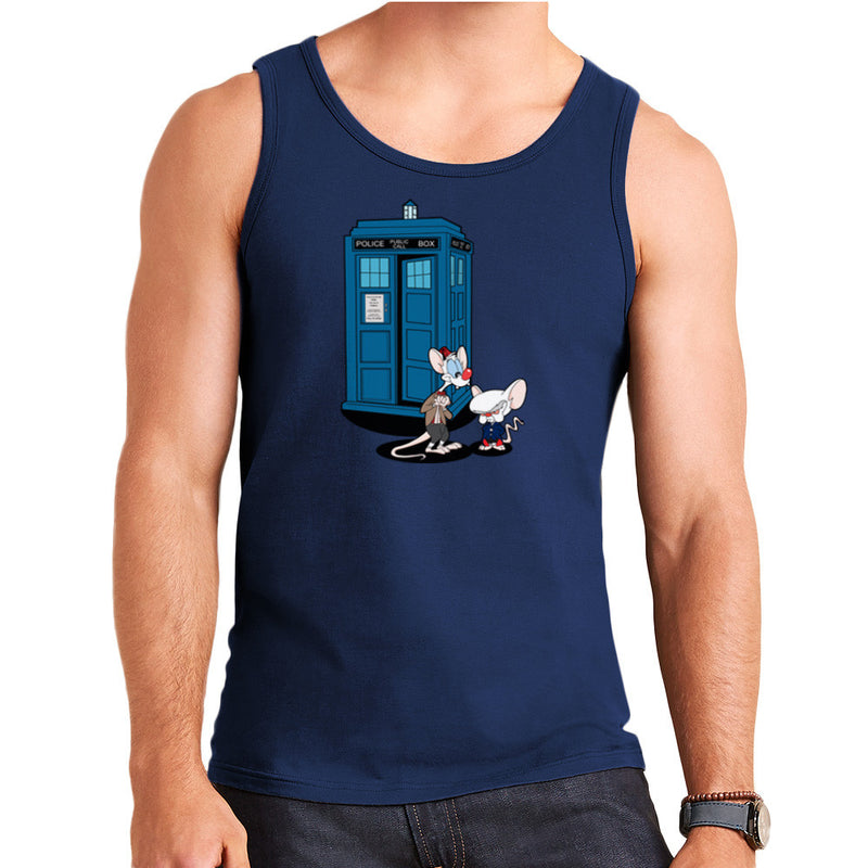 Doctor Who Pinky and the Brain Tardis Matt Smith Peter Capaldi Men's Vest by TopNotchy - Cloud City 7