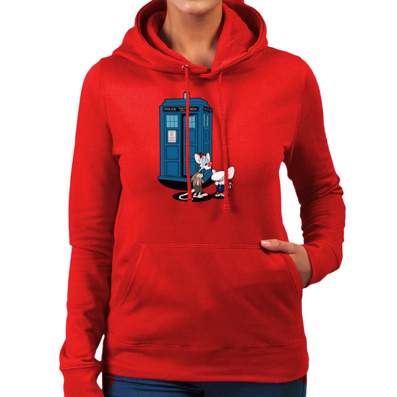 Doctor Who Pinky and the Brain Tardis Matt Smith Peter Capaldi Women's Hooded Sweatshirt by TopNotchy - Cloud City 7