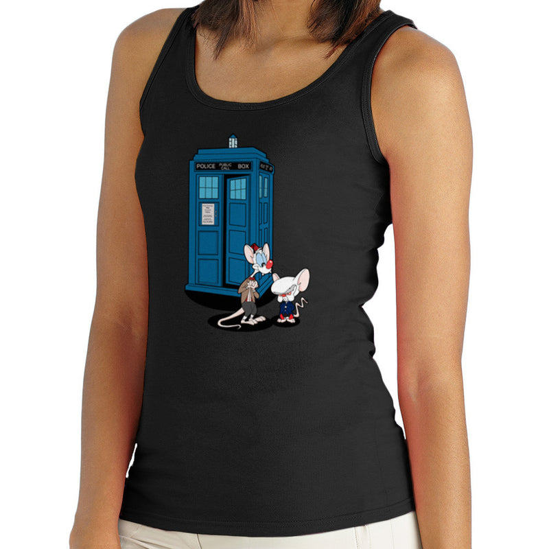 Doctor Who Pinky and the Brain Tardis Matt Smith Peter Capaldi Women's Vest by TopNotchy - Cloud City 7