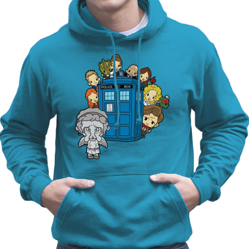 Doctor Who Weeping Angel Hide and Seek Matt Smith Tardis Men's Hooded Sweatshirt by TopNotchy - Cloud City 7