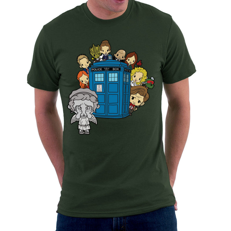 Doctor Who Weeping Angel Hide and Seek Matt Smith Tardis Men's T-Shirt by TopNotchy - Cloud City 7