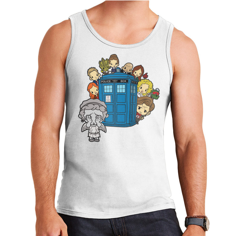 Doctor Who Weeping Angel Hide and Seek Matt Smith Tardis Men's Vest by TopNotchy - Cloud City 7