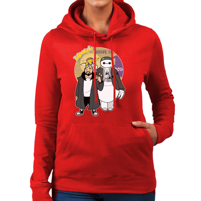 Jaymax and Silent Bob Mallrats Clerks Women's Hooded Sweatshirt by TopNotchy - Cloud City 7