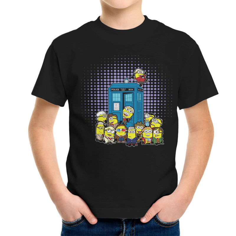 Doctor Who Minions in Time and Space Tardis Kid's T-Shirt Kid's Boy's T-Shirt Cloud City 7 - 2