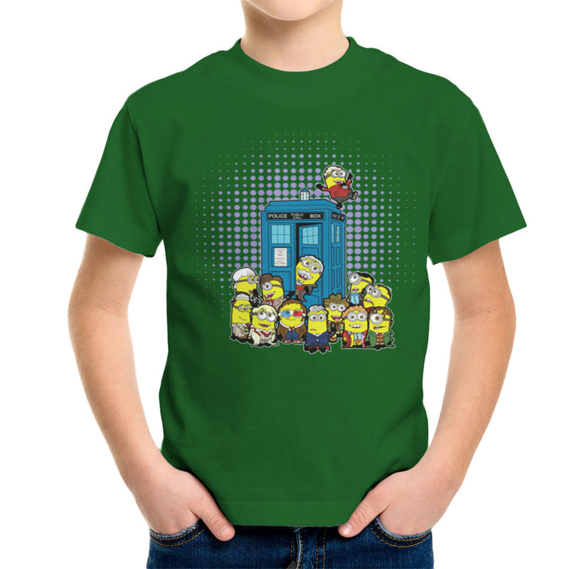 Doctor Who Minions in Time and Space Tardis Kid's T-Shirt Kid's Boy's T-Shirt Cloud City 7 - 13