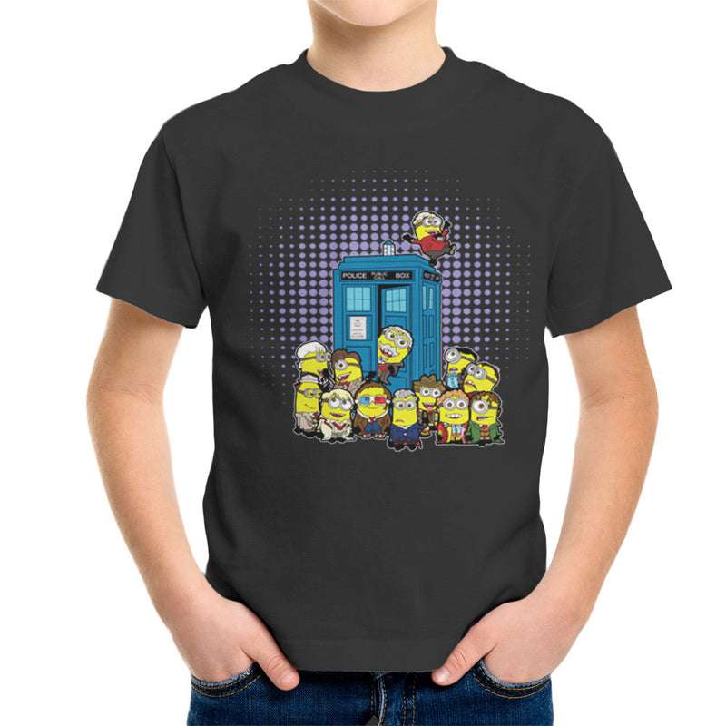 Doctor Who Minions in Time and Space Tardis Kid's T-Shirt Kid's Boy's T-Shirt Cloud City 7 - 4