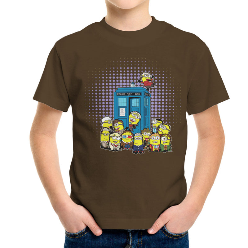 Doctor Who Minions in Time and Space Tardis Kid's T-Shirt Kid's Boy's T-Shirt Cloud City 7 - 12