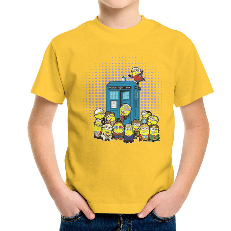Doctor Who Minions in Time and Space Tardis Kid's T-Shirt Kid's Boy's T-Shirt Cloud City 7 - 17