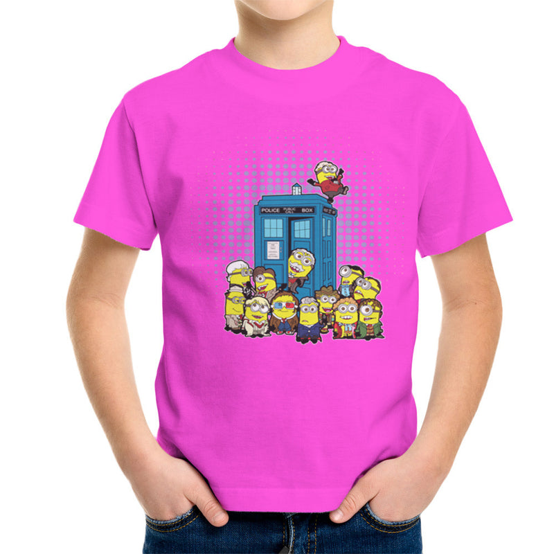 Doctor Who Minions in Time and Space Tardis Kid's T-Shirt Kid's Boy's T-Shirt Cloud City 7 - 19