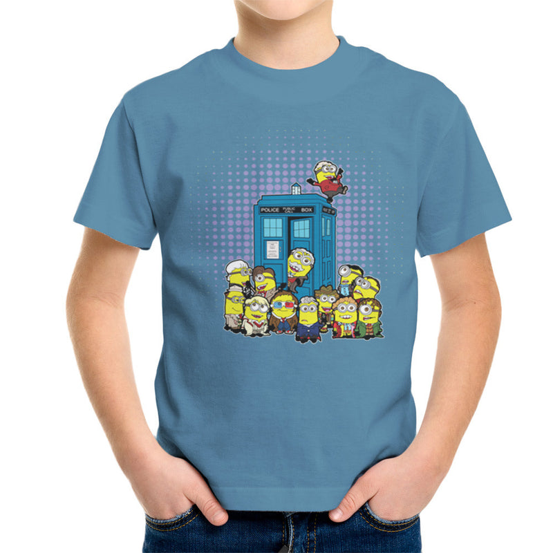 Doctor Who Minions in Time and Space Tardis Kid's T-Shirt Kid's Boy's T-Shirt Cloud City 7 - 9