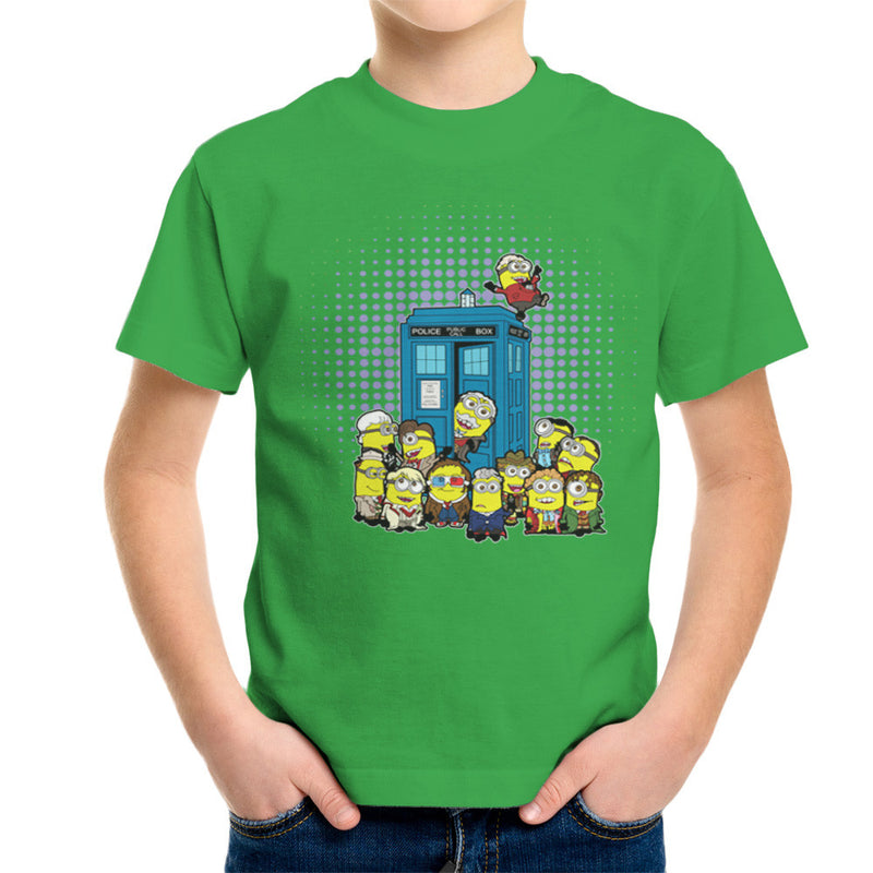 Doctor Who Minions in Time and Space Tardis Kid's T-Shirt Kid's Boy's T-Shirt Cloud City 7 - 14