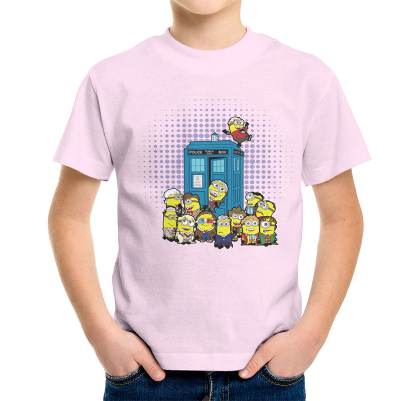 Doctor Who Minions in Time and Space Tardis Kid's T-Shirt Kid's Boy's T-Shirt Cloud City 7 - 20