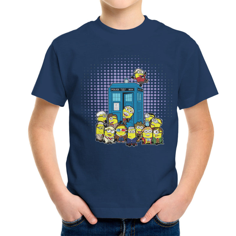 Doctor Who Minions in Time and Space Tardis Kid's T-Shirt Kid's Boy's T-Shirt Cloud City 7 - 7
