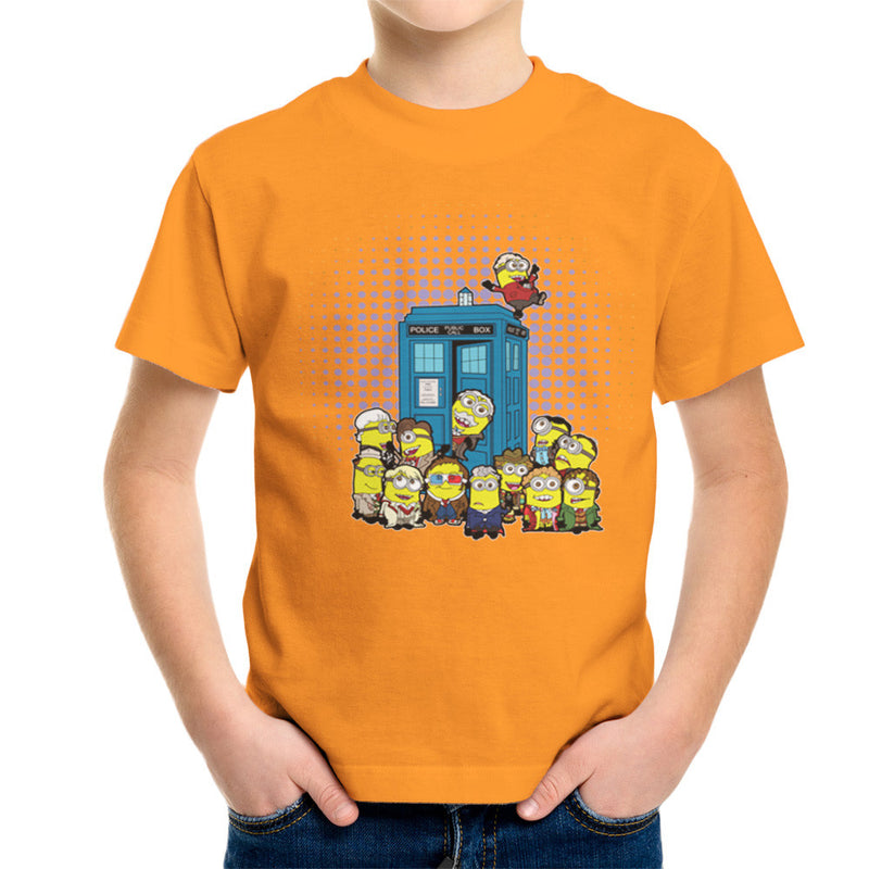 Doctor Who Minions in Time and Space Tardis Kid's T-Shirt Kid's Boy's T-Shirt Cloud City 7 - 16