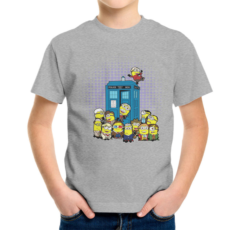 Doctor Who Minions in Time and Space Tardis Kid's T-Shirt Kid's Boy's T-Shirt Cloud City 7 - 1