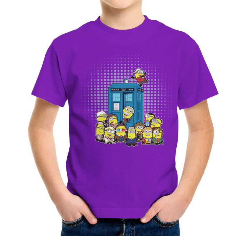 Doctor Who Minions in Time and Space Tardis Kid's T-Shirt Kid's Boy's T-Shirt Cloud City 7 - 18
