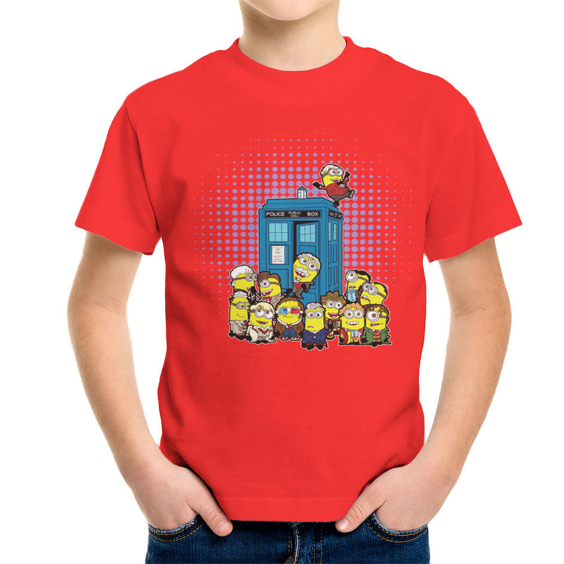 Doctor Who Minions in Time and Space Tardis Kid's T-Shirt Kid's Boy's T-Shirt Cloud City 7 - 15