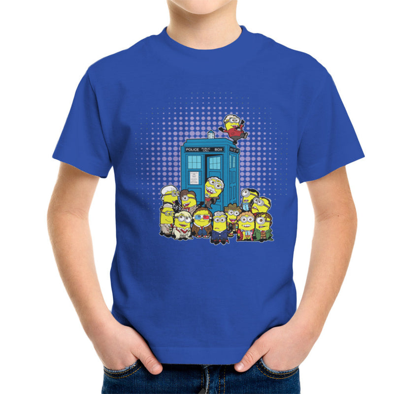Doctor Who Minions in Time and Space Tardis Kid's T-Shirt Kid's Boy's T-Shirt Cloud City 7 - 8