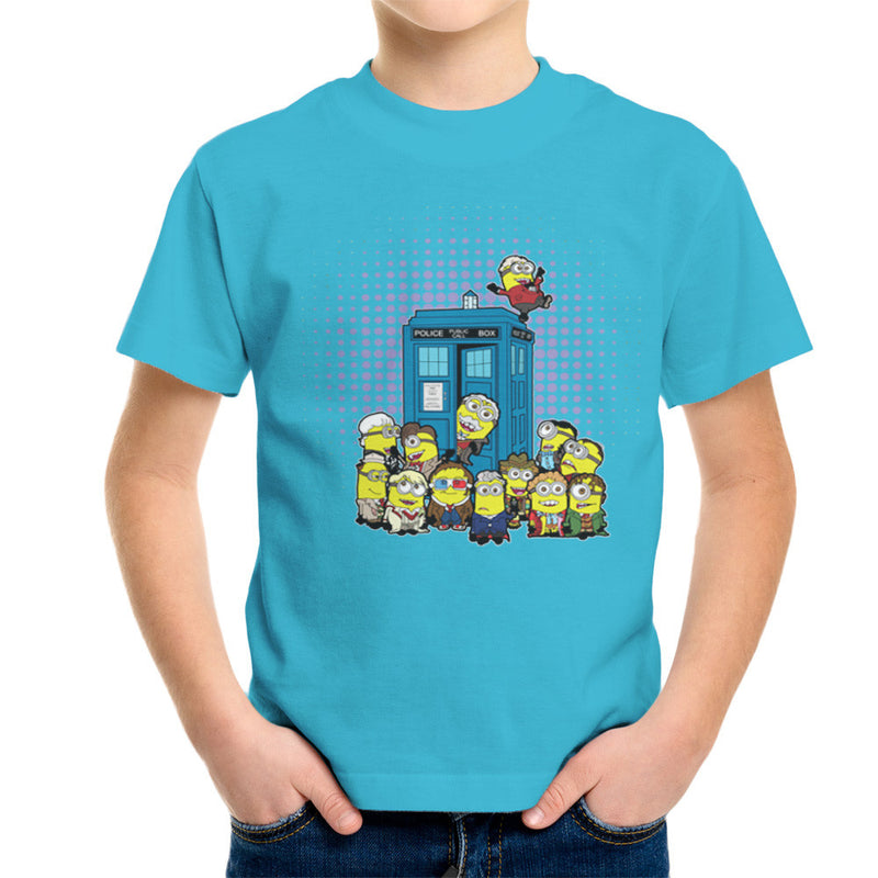 Doctor Who Minions in Time and Space Tardis Kid's T-Shirt Kid's Boy's T-Shirt Cloud City 7 - 10