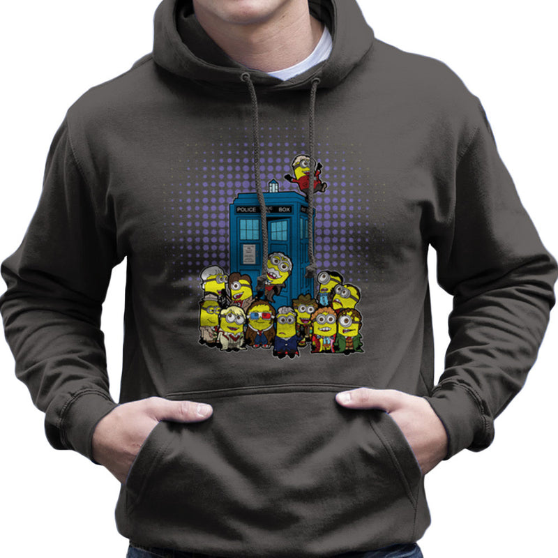 Doctor Who Minions in Time and Space Tardis Men's Hooded Sweatshirt by TopNotchy - Cloud City 7