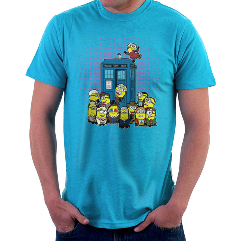 Doctor Who Minions in Time and Space Tardis Men's T-Shirt by TopNotchy - Cloud City 7