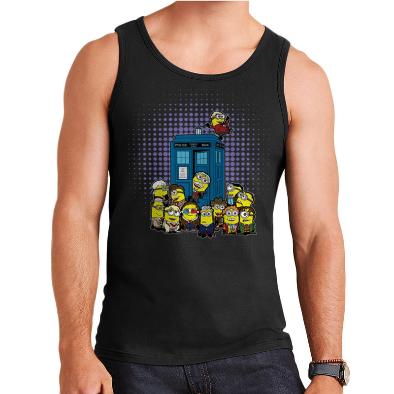 Doctor Who Minions in Time and Space Tardis Men's Vest by TopNotchy - Cloud City 7