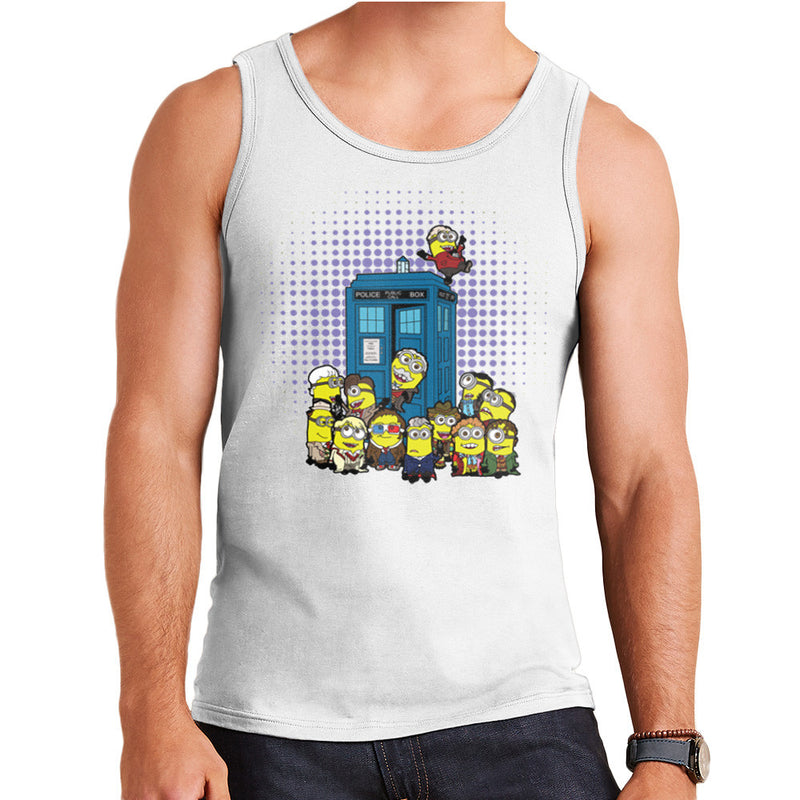 Doctor Who Minions in Time and Space Tardis Men's Vest Men's Vest Cloud City 7 - 5
