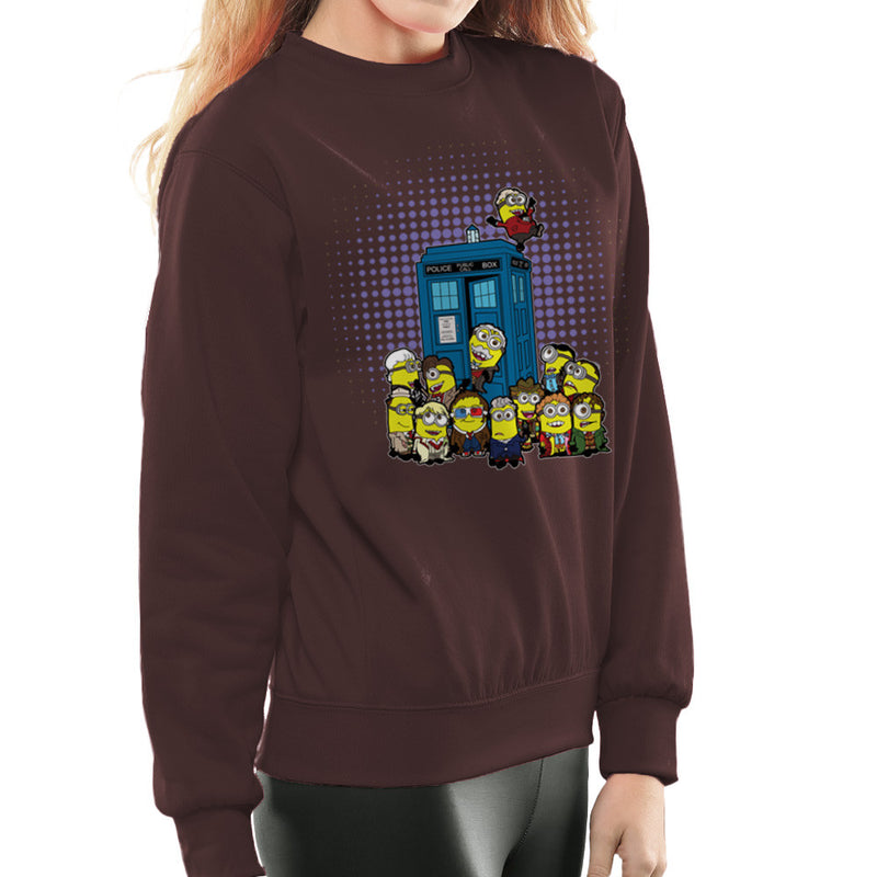 Doctor Who Minions in Time and Space Tardis Women's Sweatshirt by TopNotchy - Cloud City 7