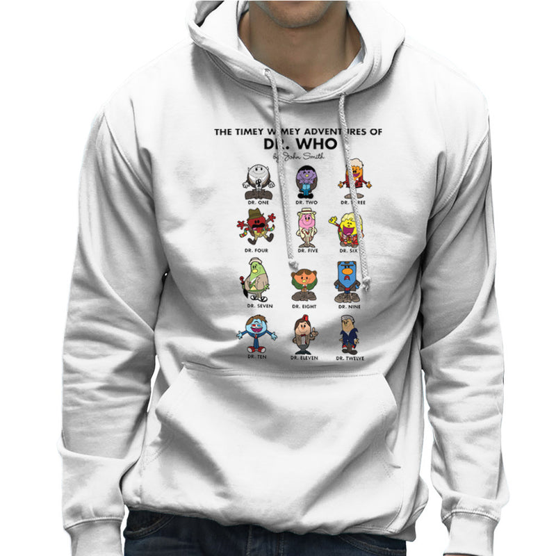 The Timey Wimey Adventures of Dr Who Mr Men Doctors Men's Hooded Sweatshirt by TopNotchy - Cloud City 7