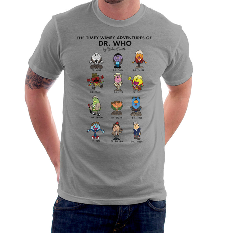 The Timey Wimey Adventures of Dr Who Mr Men Doctors Men's T-Shirt Men's T-Shirt Cloud City 7 - 5