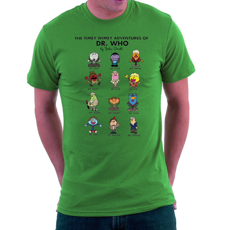 The Timey Wimey Adventures of Dr Who Mr Men Doctors Men's T-Shirt Men's T-Shirt Cloud City 7 - 14