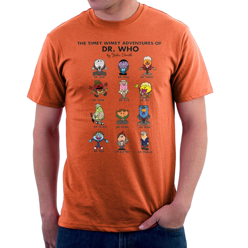 The Timey Wimey Adventures of Dr Who Mr Men Doctors Men's T-Shirt Men's T-Shirt Cloud City 7 - 17