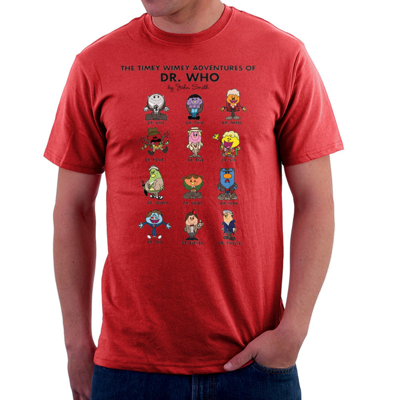 The Timey Wimey Adventures of Dr Who Mr Men Doctors Men's T-Shirt Men's T-Shirt Cloud City 7 - 16